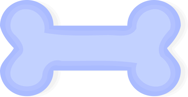 Blue dog bone clipart