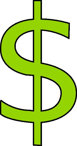 Budget clip art dollar sign