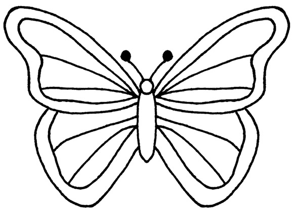 Butterfly  black and white black and white butterfly clipart 2