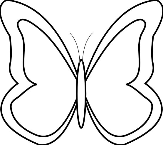 Butterfly  black and white black and white butterfly clipart 5