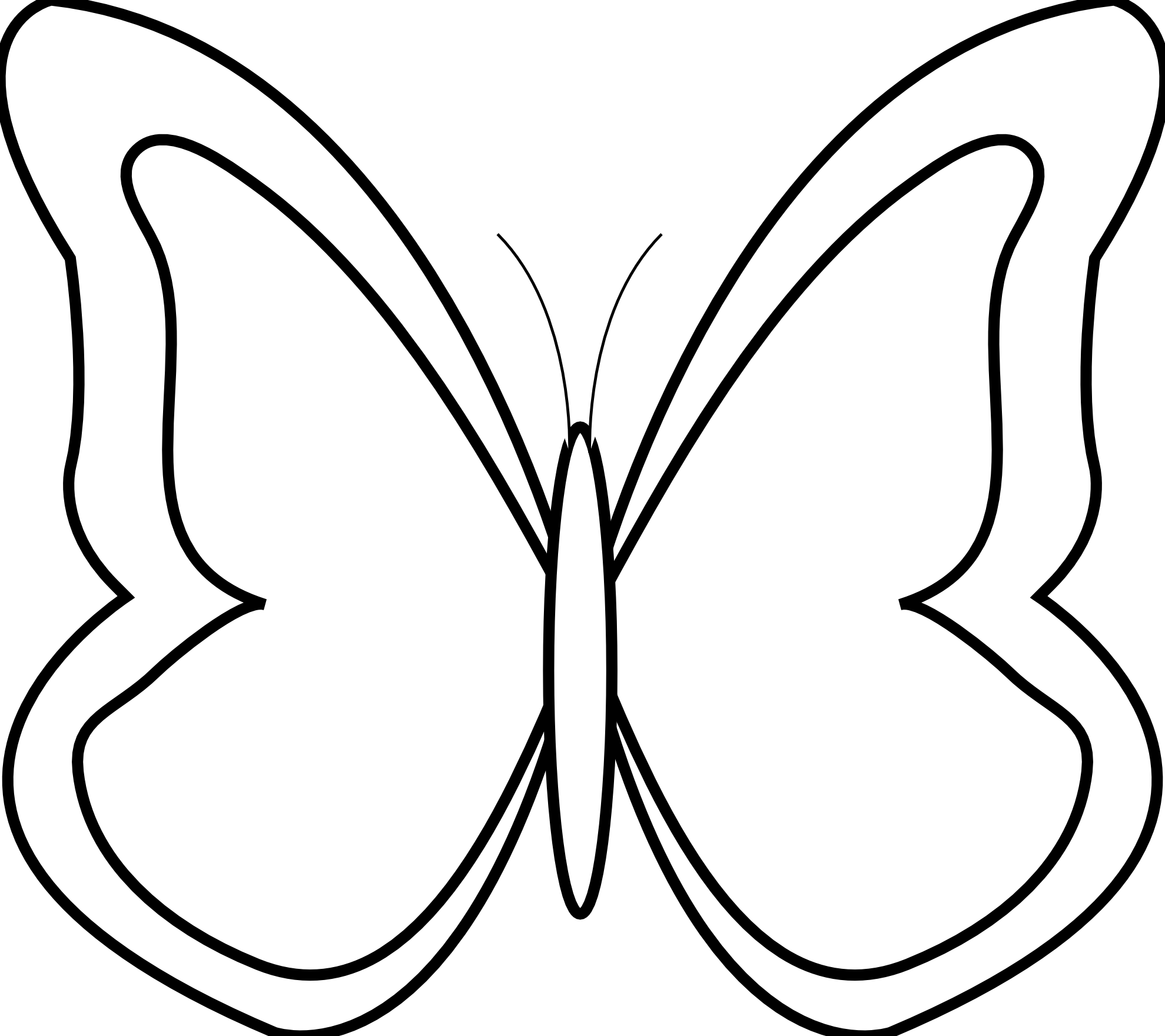 Butterfly  black and white black and white butterfly clipart 6