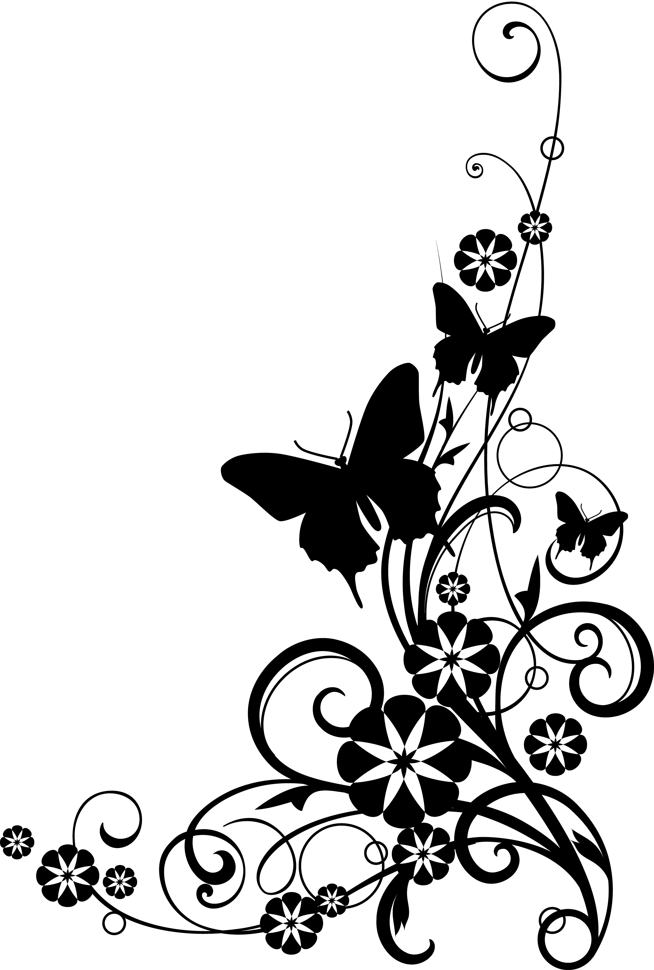 Butterfly  black and white black and white cross with butterfly clipart