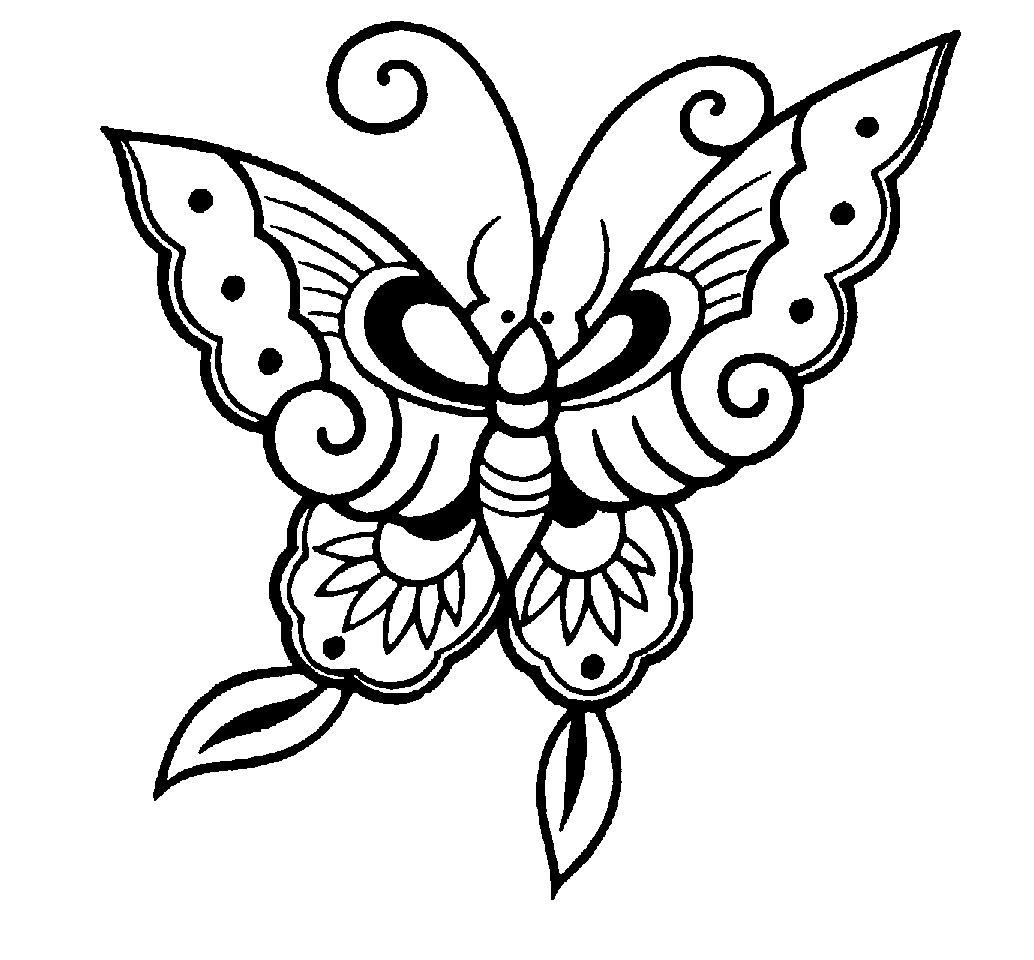Butterfly  black and white butterfly clipart black and white 7