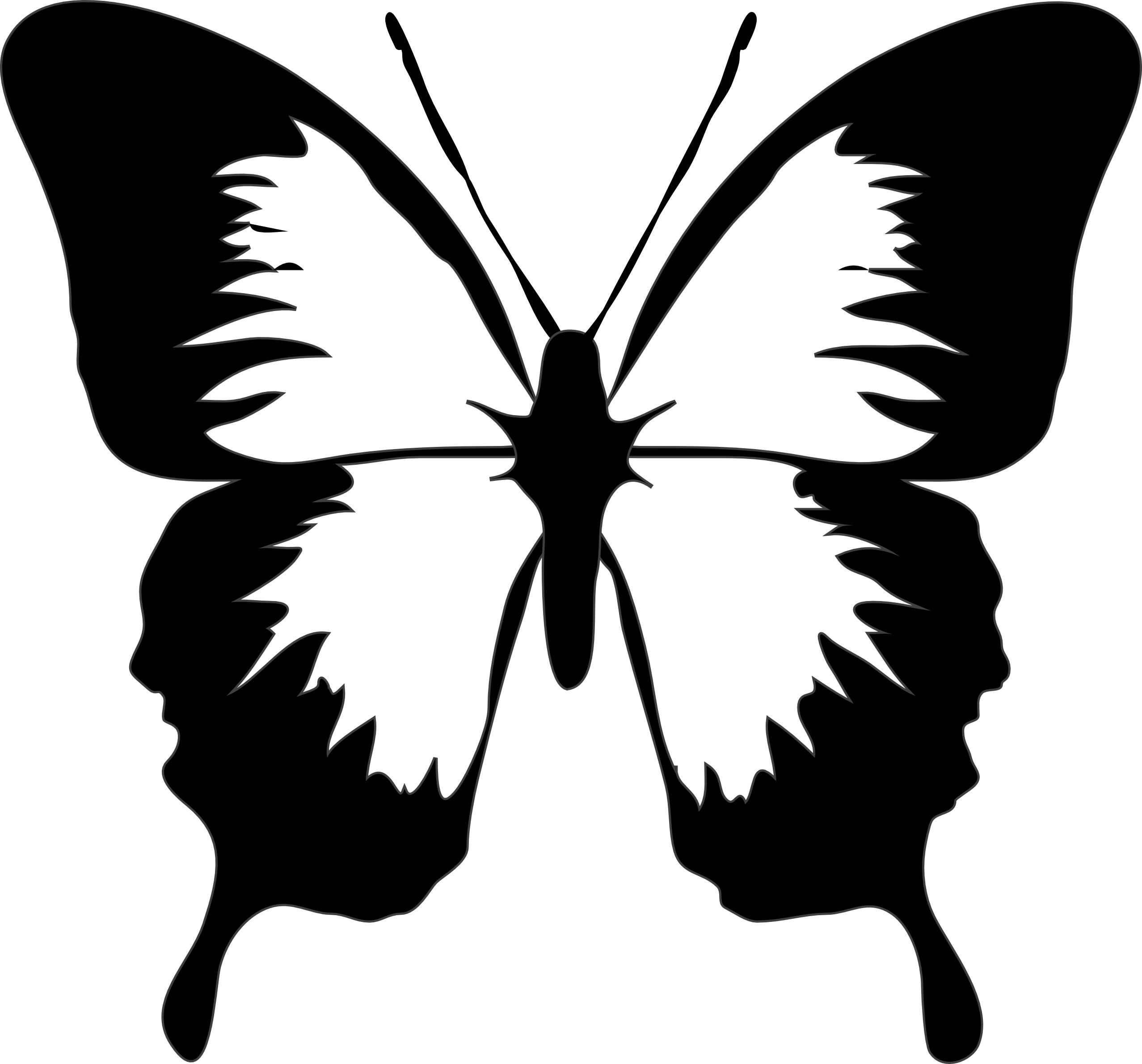 Butterfly  black and white butterfly clipart black and white clipart