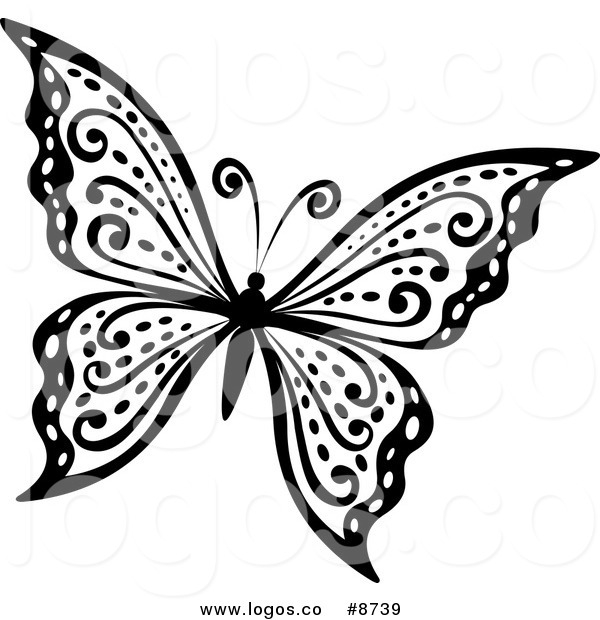 Butterfly  black and white profile butterfly clipart black and white logo more 2