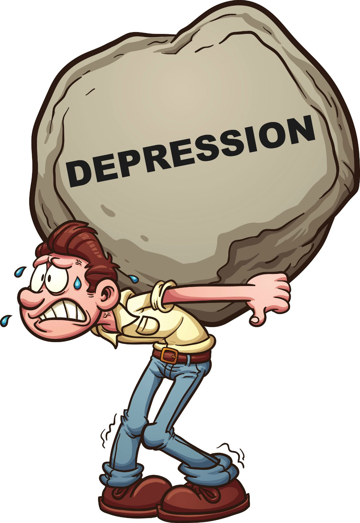 Causes of depression clip art clipart download