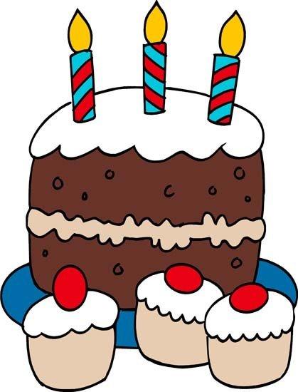 Clip art birthday cake 3 layers clipart