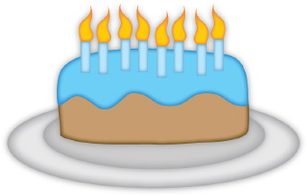 Clipart birthday cake with a cat free images