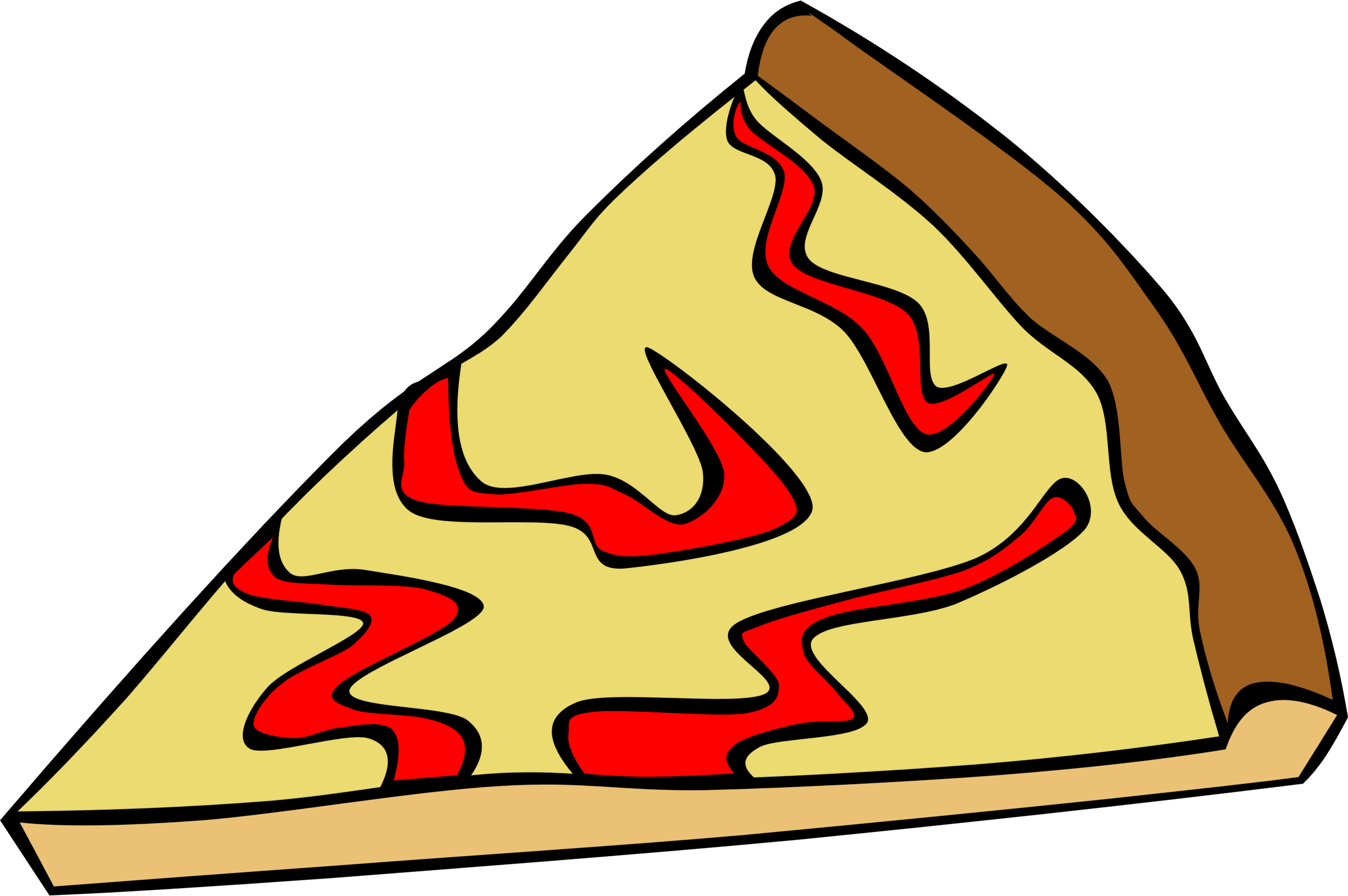 Clipart fast food snack pizza cheese