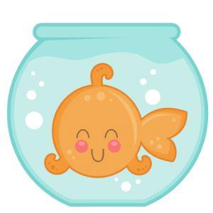 Clipart goldfish bowl