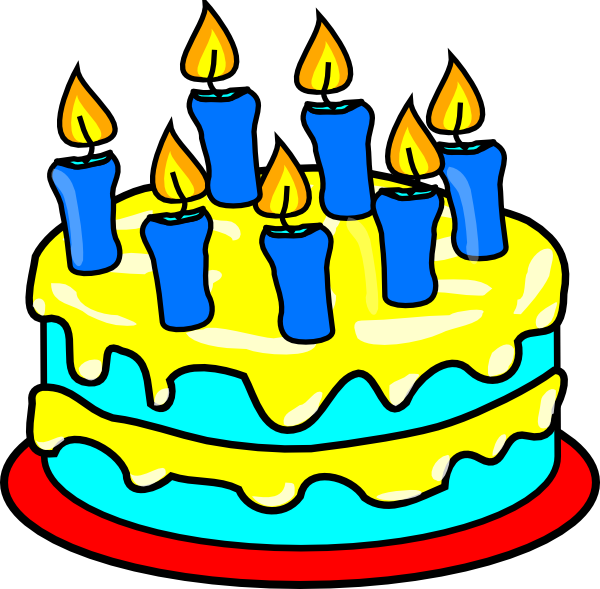 Clipart pictures of birthday cakes 2