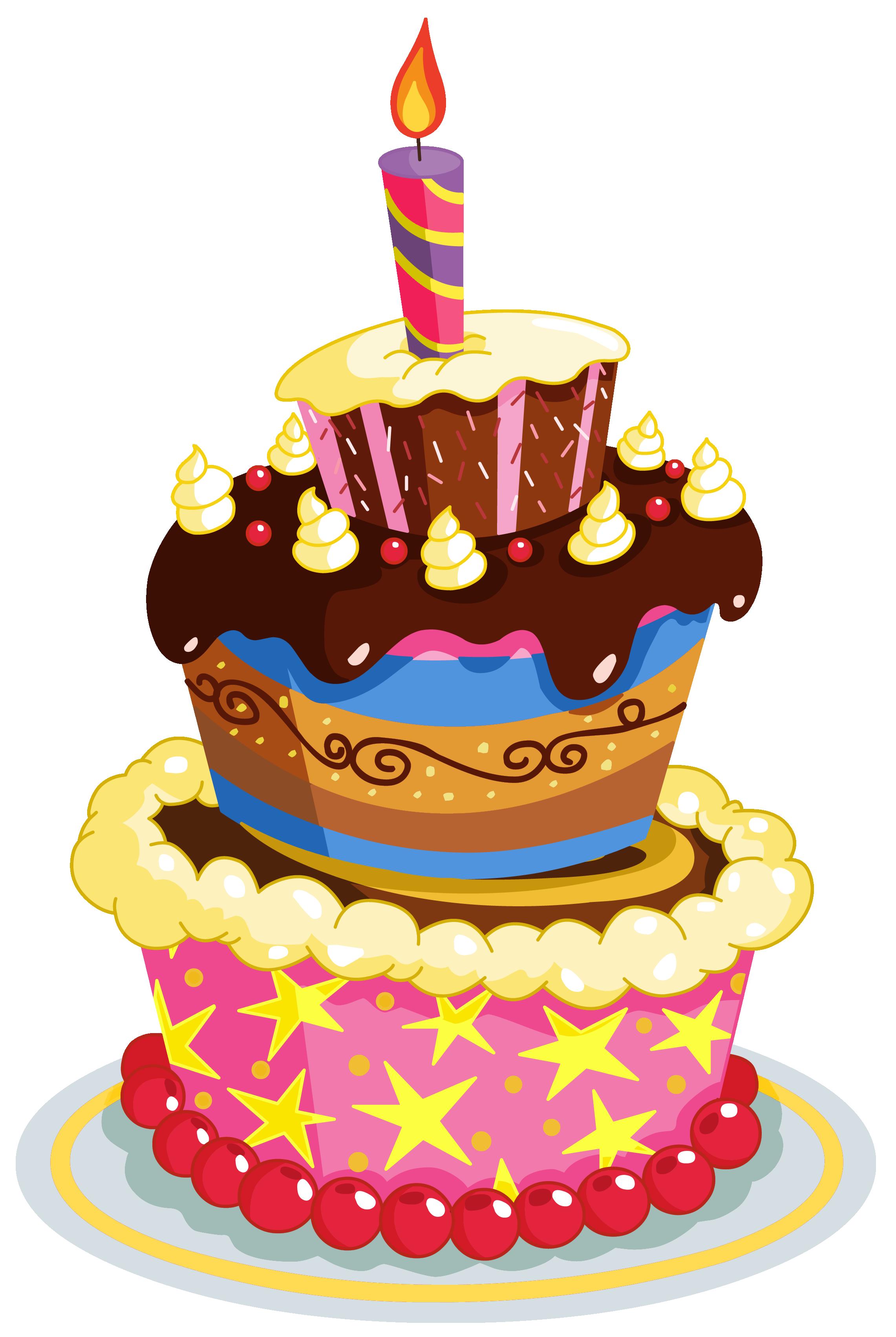 Colorful birthday cake clipart happy birthday