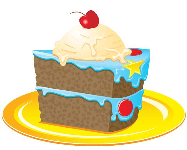 Colorful birthday cake clipart happy