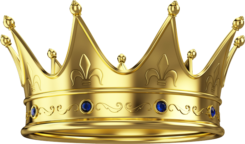 Crown transparent gold crown image with transparent background 2