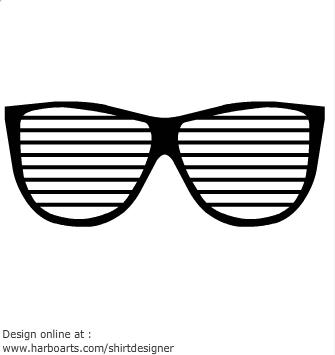 Cute eyeglasses clipart 3
