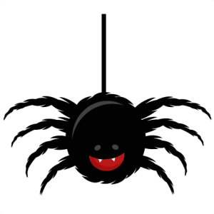 Cute spider clipart synkee