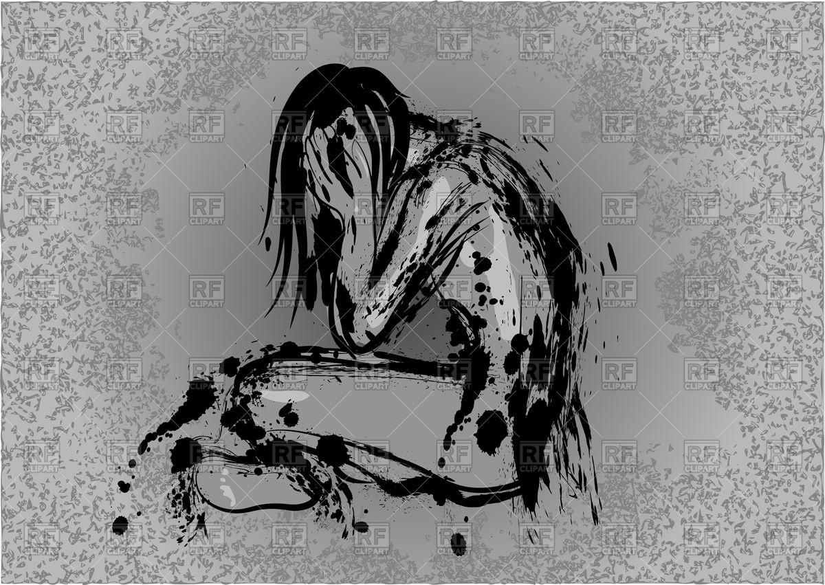 Depression conception vector image rfclipart