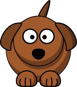 Dog bone coloring page of dog with free clip art