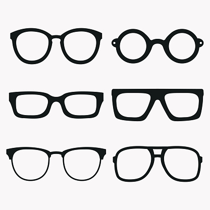 Eyeglasses vertical eye glasses clipart cute