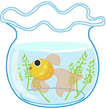 Fish bowl goldfish clip art image