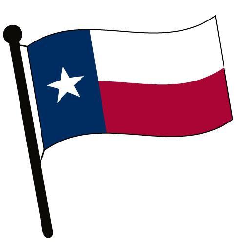 Flag black and white texas clipart