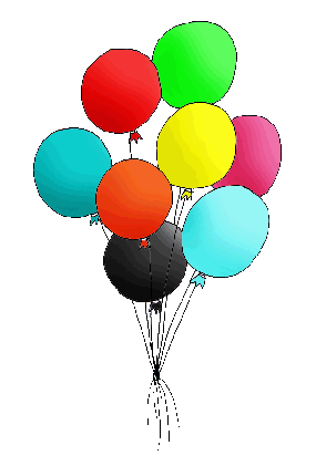 Free birthday balloon clip art clipart images 8