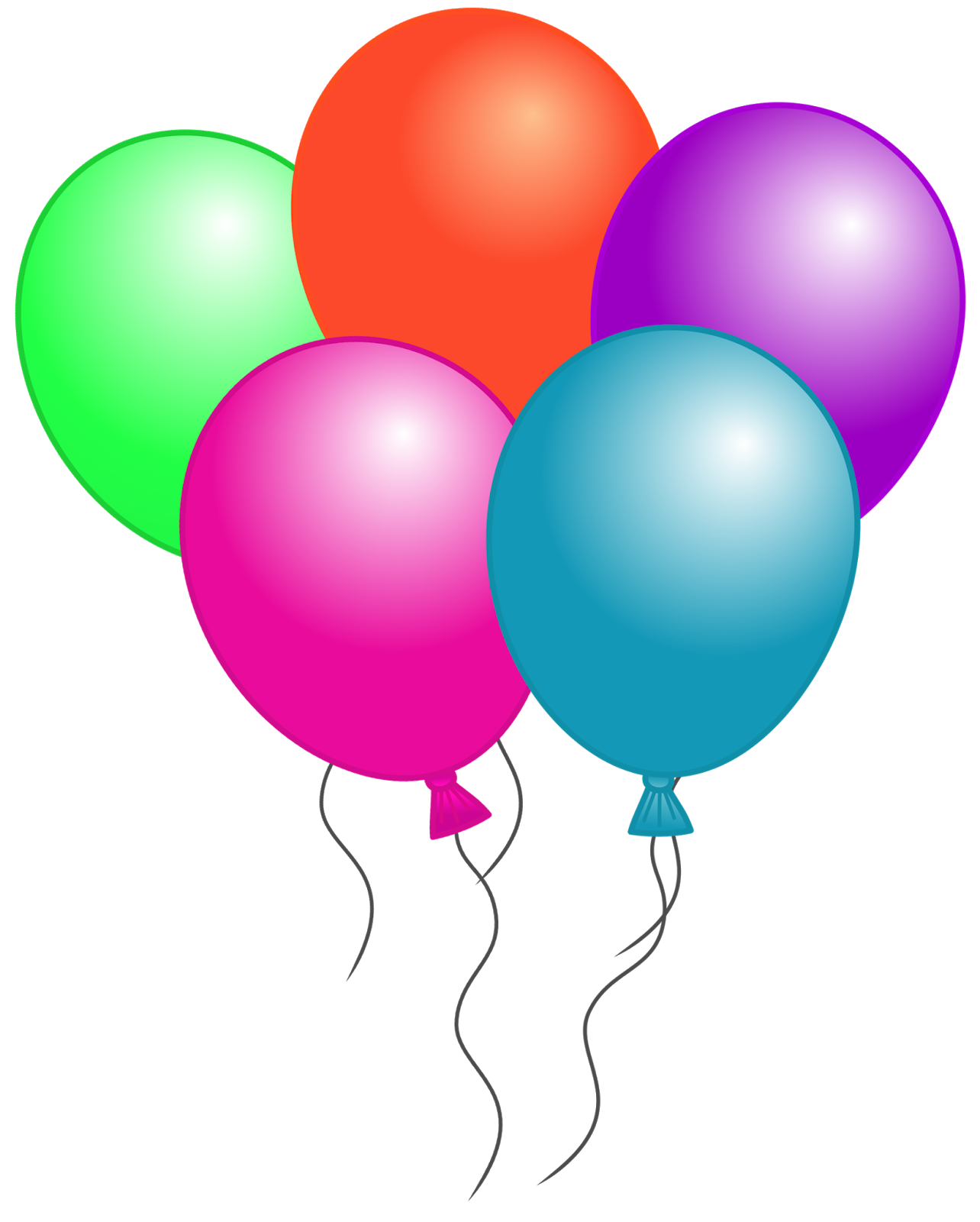 Free birthday balloon clip art clipart images
