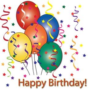 Free birthday cake clip art image with white