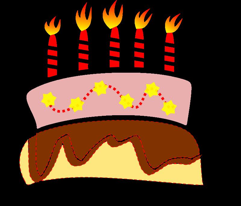 Free birthday cake clipart 2