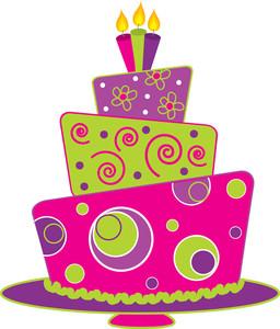 Free clip art birthday cake