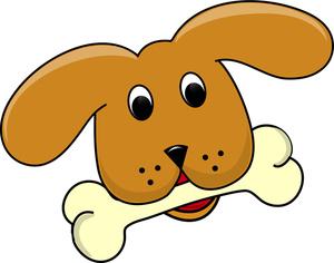 Free clipart dog bone 2 image