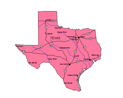 Free clipart of outline texas 2