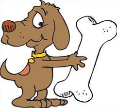 Free dog bone clipart 3