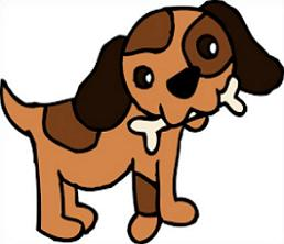 Free dog bone clipart 6