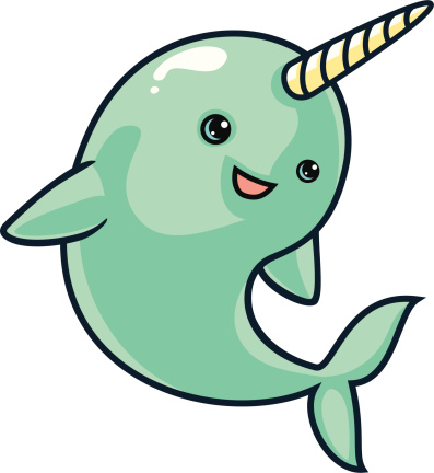 Free narwhal clipart