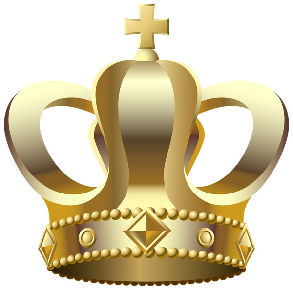 Gold crown transparent clip art image