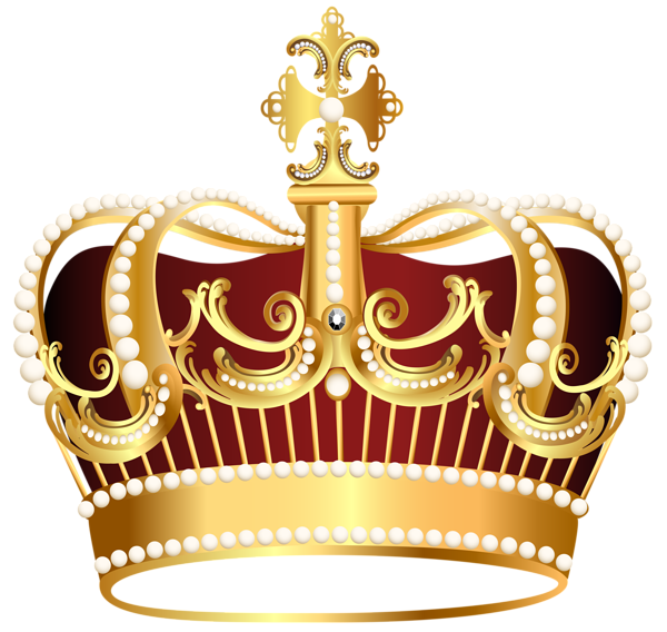 Golden crown transparent clip art image
