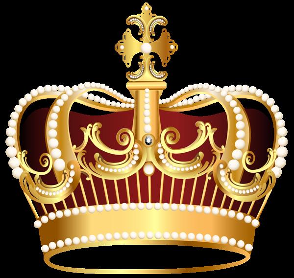 Golden crown transparent clip art image