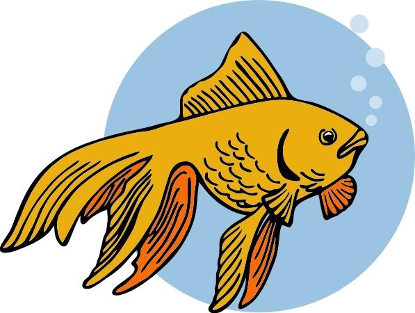 Goldfish clip art black and white free clipart