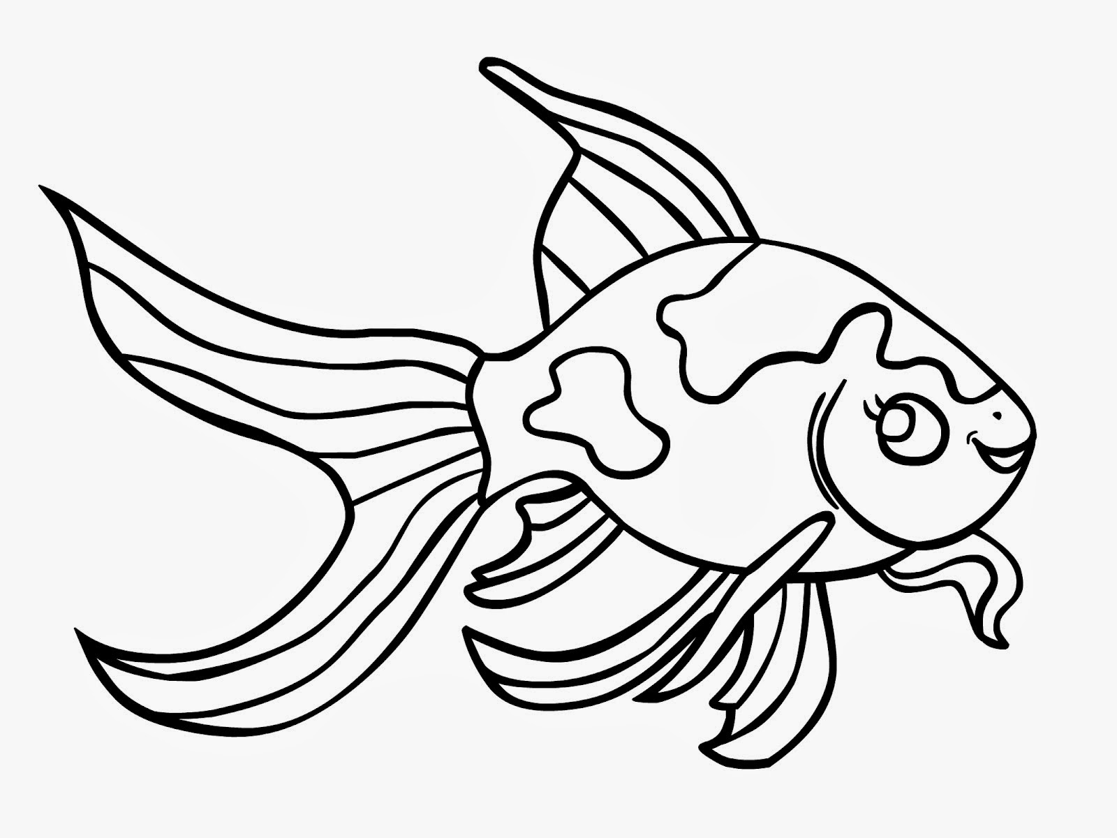 Goldfish clipart black and white