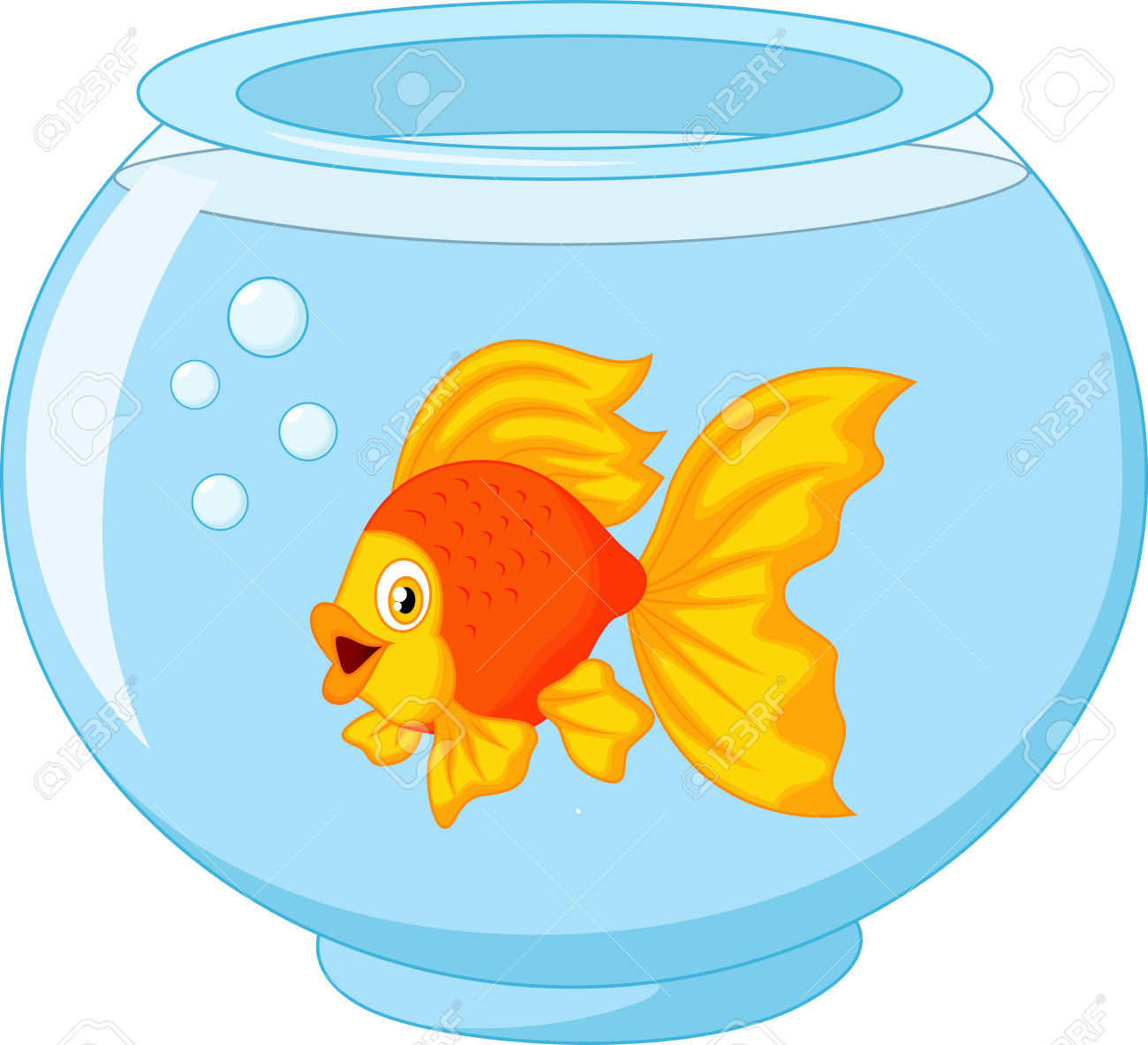 Goldfish gold fish clip art 5