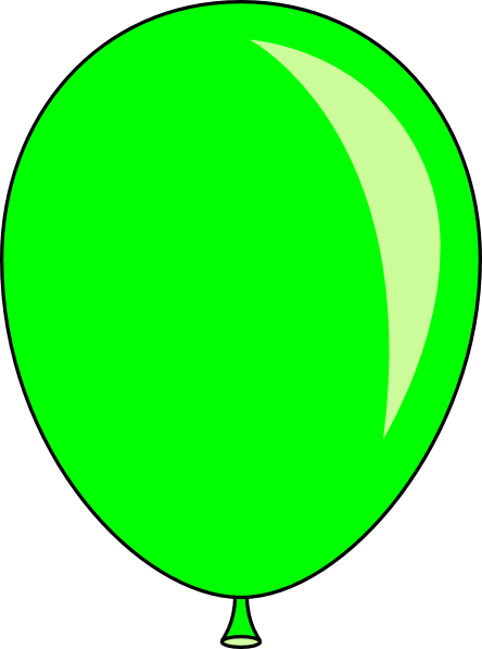 Green balloon clipart free images
