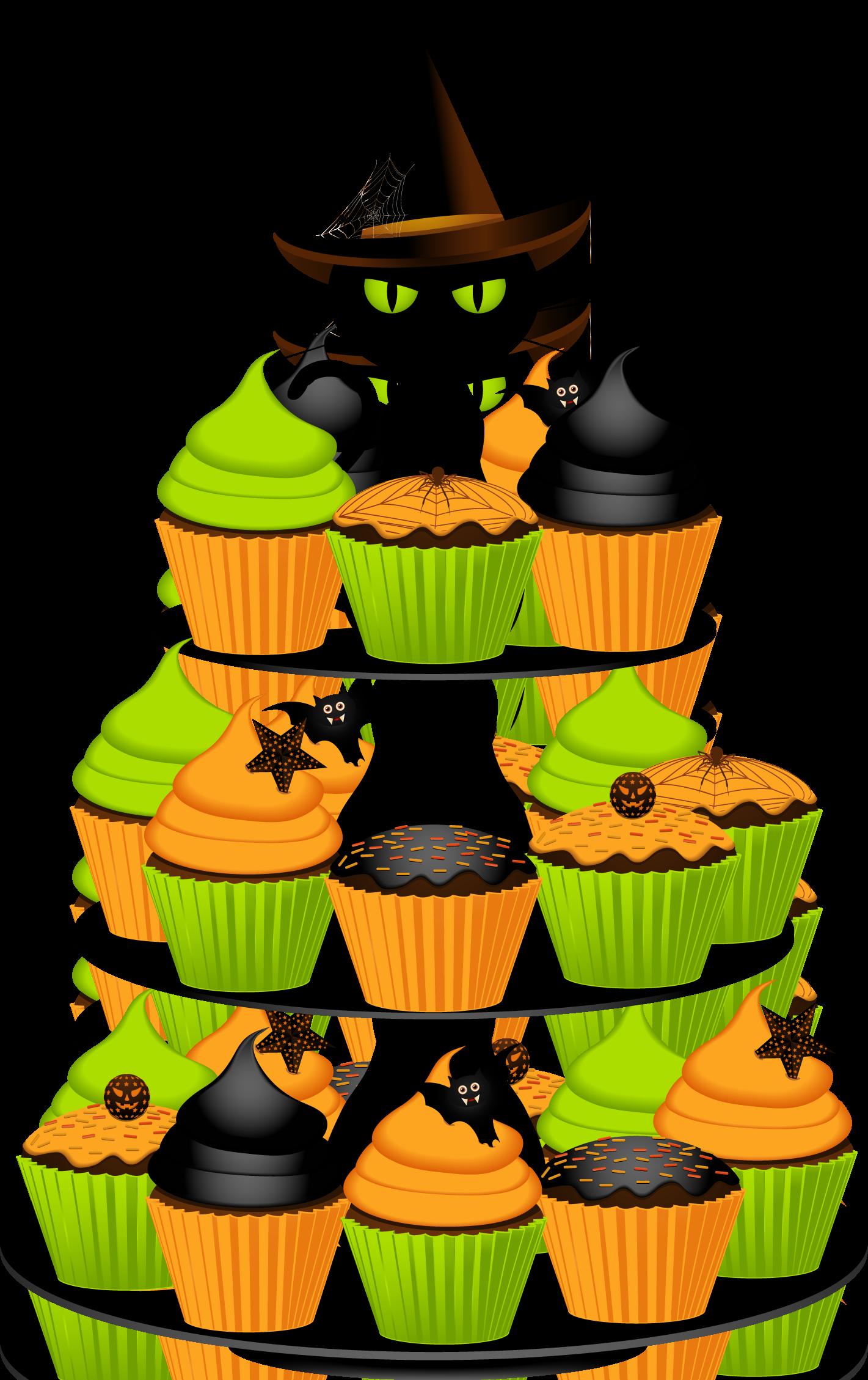 Halloween birthday cake clipart 3