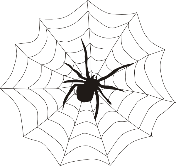 Halloween hanging spider clipart free images