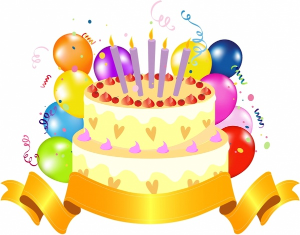 Happy birthday cake clipart free vector download 7 free