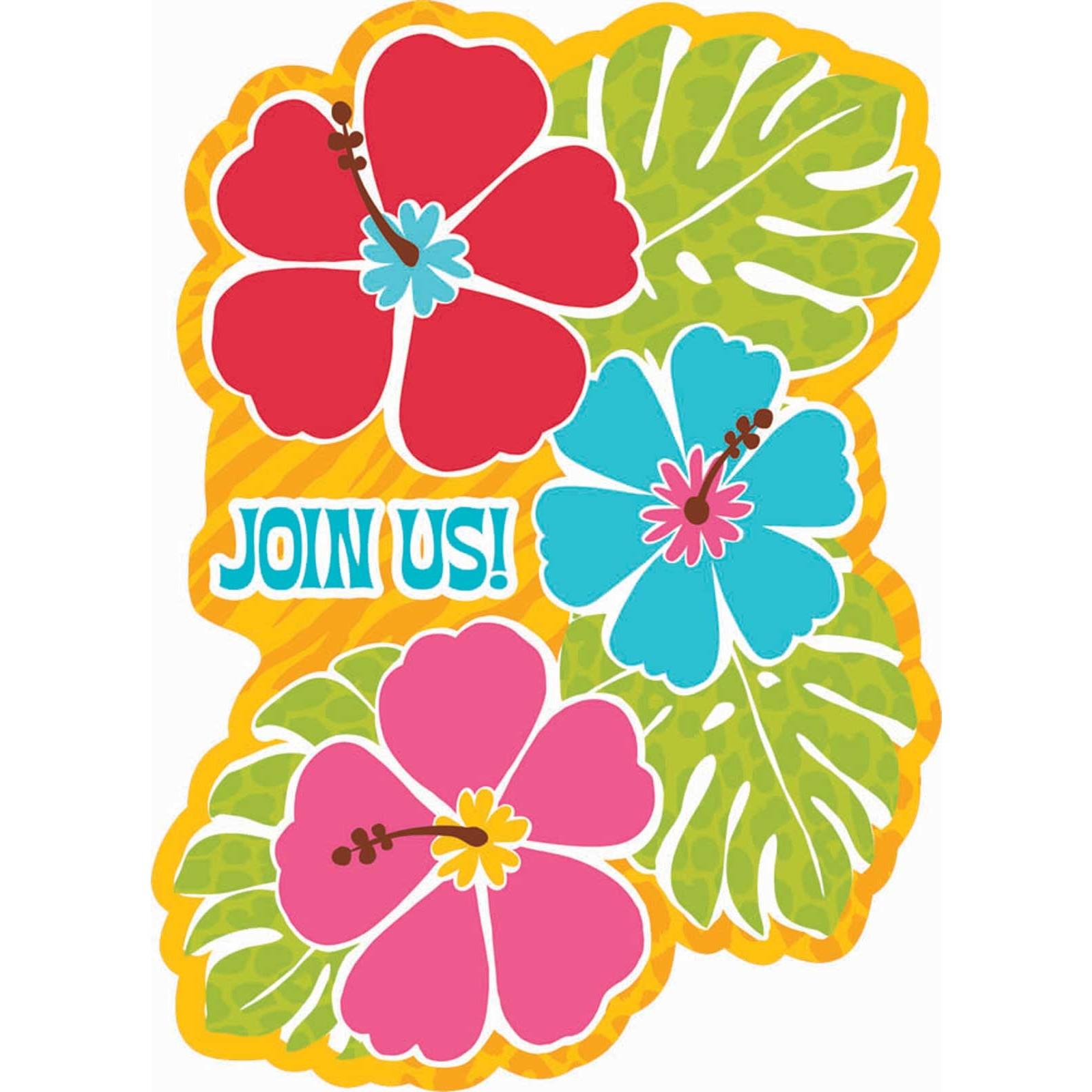 Hawaiian luau clip art free clipart images 2
