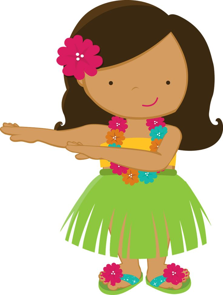 Hawaiian luau clip art