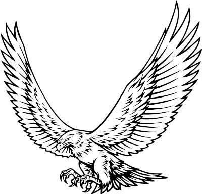 Hawks mascot clipart