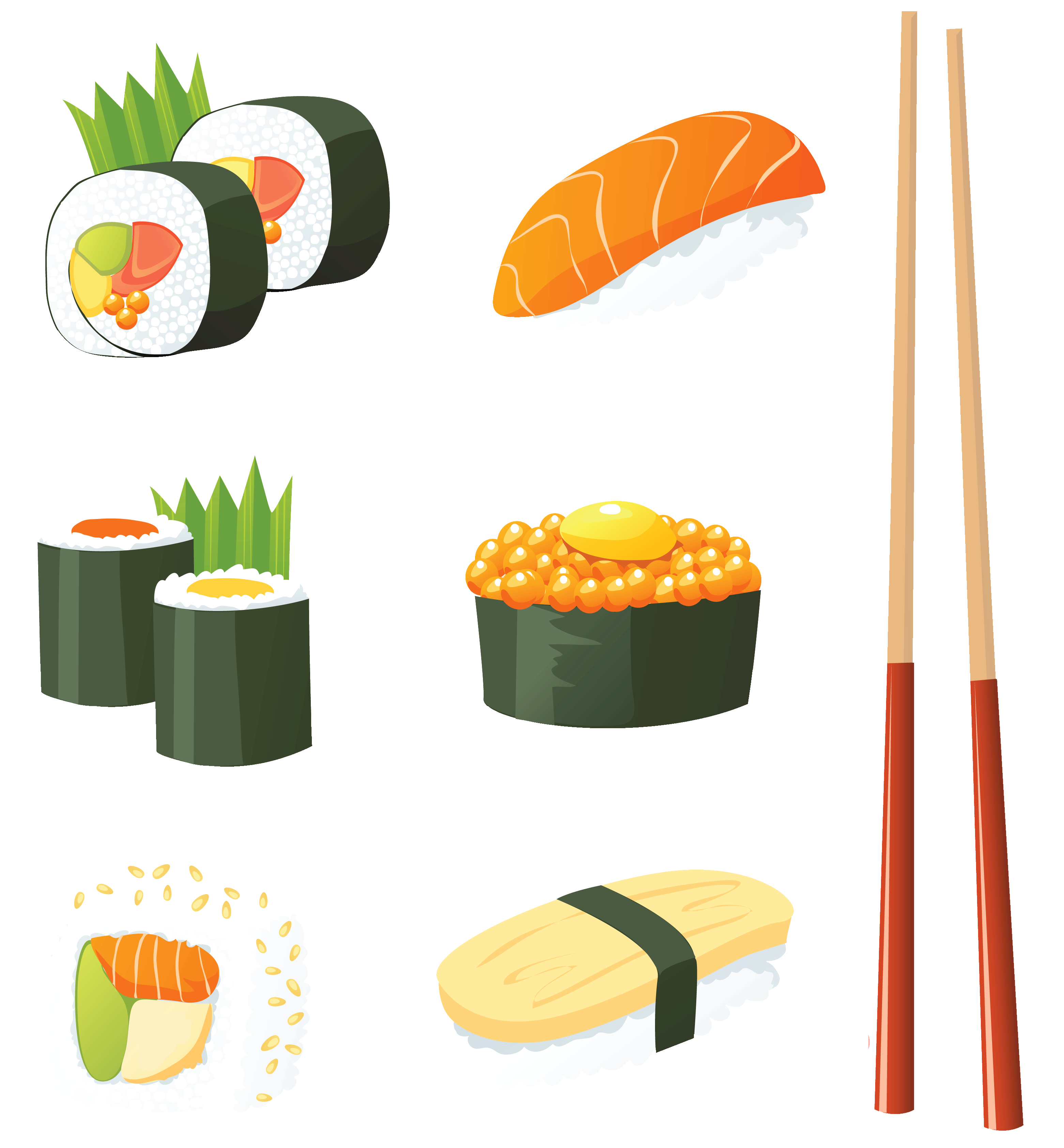 Japanese sushi clip art clipart download