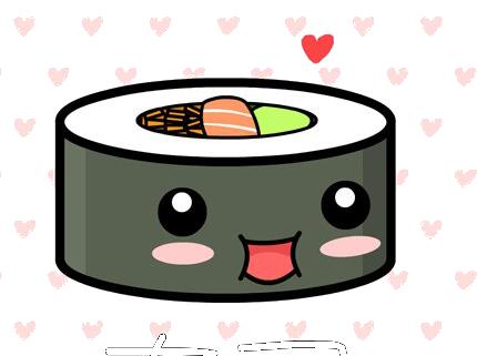 Kawaii sushi clipart cute clip art 3